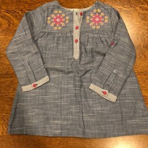 LALI chambray embroidered dress.  Size 3T